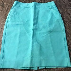 Teal J. Crew pencil skirt
